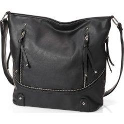 Shopper bag damskie: Torba shopper z zamkiem bonprix czarny