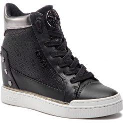 Sneakersy GUESS - FL5FNL FAL12 BLACK. Czarne sneakersy damskie Guess, z materiału. Za 599,00 zł.