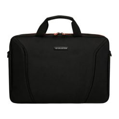 Torby na laptopa: Torba w kolorze pomarańczowo-czarnym na laptopa – (S)28 x (W)40 x (G)5 cm