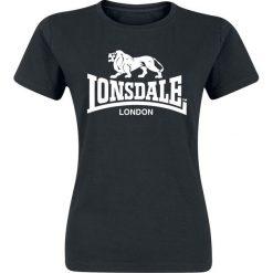Lonsdale London Heather Koszulka damska czarny. Czarne bluzki z odkrytymi ramionami marki Lonsdale London, xxl, z nadrukiem, z okrągłym kołnierzem. Za 54,90 zł.