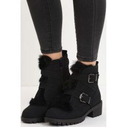 Czarne Zamszowe Botki Hairy Nose. Czarne buty zimowe damskie Born2be, z zamszu, na niskim obcasie. Za 89,99 zł.