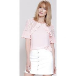 Bluzki damskie: Jasnoróżowa Bluzka  Arm Lace