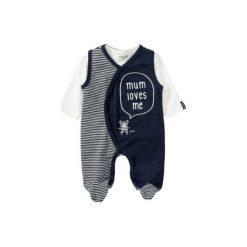 Staccato  Śpioszki komplet dark navy - niebieski - Gr.Niemowlę (0 - 6 miesięcy). Niebieskie śpiochy niemowlęce Staccato, z bawełny. Za 85,00 zł.