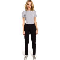 Spodnie dresowe damskie: Czarne Dresowe Spodnie z Dzianiny