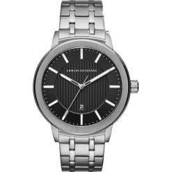 Armani Exchange Zegarek silvercoloured. Czarne zegarki męskie marki Armani Exchange, l, z materiału, z kapturem. Za 759,00 zł.