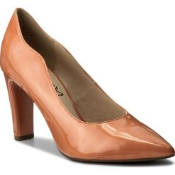 Półbuty CAPRICE - 9-22402-20 Apricot Patent 652. Brązowe półbuty damskie lakierowane Caprice, z lakierowanej skóry, eleganckie, na obcasie. W wyprzedaży za 169,00 zł.
