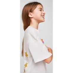 Mango Kids - Top dziecięcy Iris 110-164 cm. Fioletowe bluzki dziewczęce marki OLAIAN, z elastanu, sportowe. W wyprzedaży za 29,90 zł.