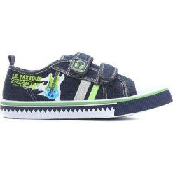 Granatowe Trampki Guitarist. Niebieskie buty sportowe chłopięce marki Born2be, z materiału, młodzieżowe, z okrągłym noskiem. Za 49,99 zł.