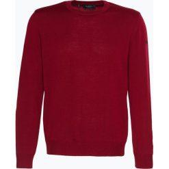 März - Męski sweter z wełny merino, czerwony. Czerwone swetry klasyczne męskie März, m, z wełny, z klasycznym kołnierzykiem. Za 399,95 zł.