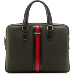 Torba na laptopa 85-3U-209-Z. Zielone torby na laptopa marki Wittchen, w paski, z tworzywa sztucznego. Za 359,00 zł.