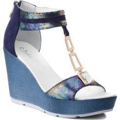 Sandały damskie: Sandały R.POLAŃSKI - 0938 Niebieski Benzyna