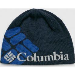 Columbia - Czapka. Niebieskie czapki zimowe męskie Columbia, z dzianiny. W wyprzedaży za 79,90 zł.