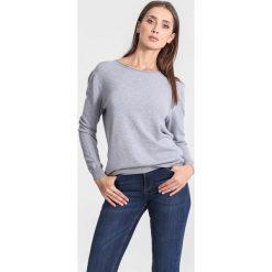 Swetry klasyczne damskie: Ciemnoszary Sweter Great Melodies