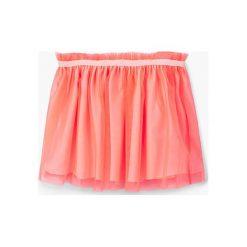 Mango Kids - Spódnica dziecięca Fruits 74-98 cm. Pomarańczowe minispódniczki marki Mango Kids, z materiału, rozkloszowane. W wyprzedaży za 49,90 zł.