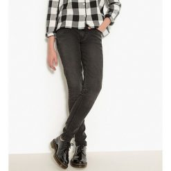 Dżinsy superskinny 10-16 lat. Szare spodnie chłopięce La Redoute Collections, z bawełny. Za 88,16 zł.