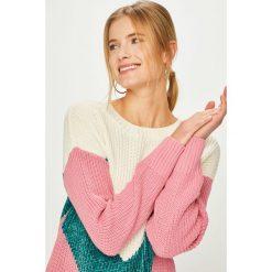 Noisy May - Sweter. Szare swetry klasyczne damskie Noisy May, l, z bawełny, z okrągłym kołnierzem. Za 169,90 zł.