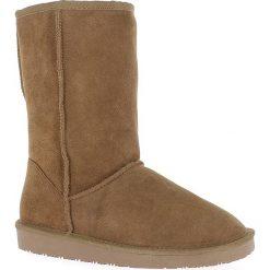 """Buty zimowe damskie: Skórzane kozaki """"Pikes"""" w kolorze brązowym"""