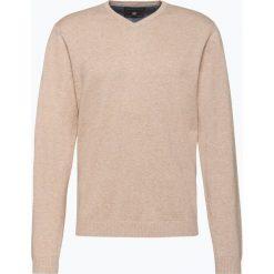 Swetry męskie: Finshley & Harding - Sweter męski z dodatkiem kaszmiru, beżowy