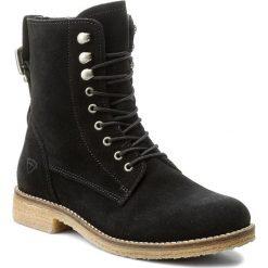 Botki TAMARIS - 1-25275-29 Black 001. Szare buty zimowe damskie marki Tamaris, z materiału, na sznurówki. W wyprzedaży za 199,00 zł.