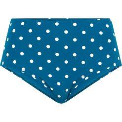 Figi bikini, szybko schnące bonprix niebieskozielono-biały w kropki. Niebieskie bikini bonprix, w kropki. Za 59,99 zł.