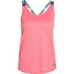 Nike Performance DRY TANK ELASTIKA Koszulka sportowa sea coral/blue force. Pomarańczowe topy sportowe damskie Nike Performance, s, z materiału. Za 129,00 zł.
