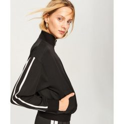 Sportowa bluza - Czarny. Białe bluzy sportowe damskie marki bonprix, melanż, z dresówki, z długim rękawem, długie. Za 139,99 zł.