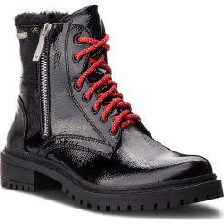 Trapery PEPE JEANS - Collie Suri PLS50336  Black 999. Czarne buty zimowe damskie Pepe Jeans, z jeansu. W wyprzedaży za 279,00 zł.