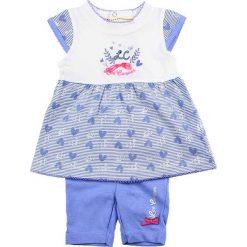 Spodnie niemowlęce: 2-częściowy zestaw w kolorze niebiesko-białym