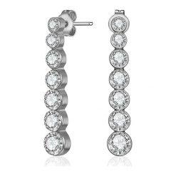 """Biżuteria i zegarki: Kolczyki-wkrętki """"Chloe"""" z kryształkami Swarovski"""