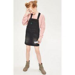 Spódniczki: Jeansowa spódnica na szelkach - Czarny