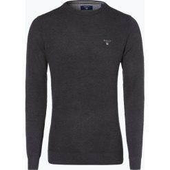 Gant - Sweter męski, szary. Szare swetry klasyczne męskie GANT, m, z dzianiny, z klasycznym kołnierzykiem. Za 579,95 zł.