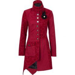 Płaszcz bonprix czerwony. Czerwone płaszcze damskie bonprix, z aplikacjami, z materiału. Za 319,99 zł.