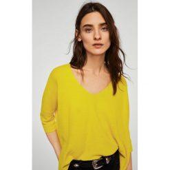 Mango - Sweter Ines. Brązowe swetry klasyczne damskie Mango, l, z dzianiny. W wyprzedaży za 59,90 zł.
