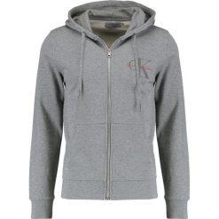 Calvin Klein Jeans HOMER ZIP THRU SLIM FIT Bluza rozpinana mid grey heather. Szare bluzy męskie rozpinane marki Calvin Klein Jeans, m, z bawełny. W wyprzedaży za 411,75 zł.