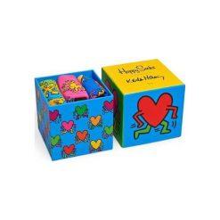 Skarpetki męskie: Happy Socks Skarpety unisex Keith Haring Giftbox wielokolorowe r. 41-46 (XBBC08-100)