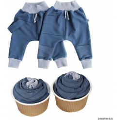 Spodnie baggy 2 pack blue. Niebieskie spodnie niemowlęce marki Pakamera. Za 95,00 zł.