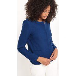 Bluzy rozpinane damskie: Krótka bluza pudełkowa z poliestru