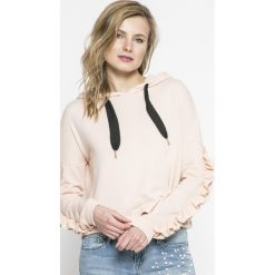 Only - Bluza. Szare bluzy z kapturem damskie marki ONLY, l, z bawełny. W wyprzedaży za 59,90 zł.