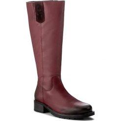Oficerki JANA - 8-25501-29 Red 500. Czerwone buty zimowe damskie Jana, ze skóry, na obcasie. W wyprzedaży za 379,00 zł.