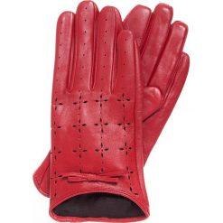 Rękawiczki damskie 45-6-519-2T. Czerwone rękawiczki damskie Wittchen. Za 99,00 zł.