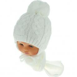 Czapka niemowlęca z szalikiem CZ+S 131A. Szare czapeczki niemowlęce Proman. Za 39,76 zł.