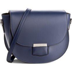 Torebka CREOLE - K10276 Granat. Niebieskie listonoszki damskie Creole, ze skóry. W wyprzedaży za 169,00 zł.