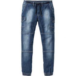 """Dżinsy bez zamka w talii Slim Fit Tapered bonprix niebieski """"stone used"""". Niebieskie jeansy męskie relaxed fit marki bonprix. Za 79,99 zł."""