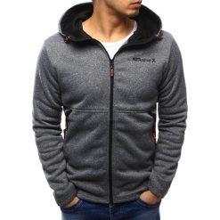 Bluzy męskie: Bluza męska rozpinana z kapturem szara (bx3411)
