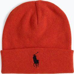 Polo Ralph Lauren - Czapka męska, pomarańczowy. Brązowe czapki męskie Polo Ralph Lauren, z haftami, z bawełny, klasyczne. Za 179,95 zł.