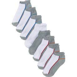 Skarpetki damskie: Krótkie skarpetki damskie (8 par) bonprix biało-szaro-kolorowy