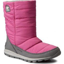 Kozaki dziewczęce: Śniegowce SOREL – Youth Whitney Mid NY1896  Pink Ice/Quarry 695