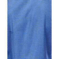 KOSZULA MĘSKA W KRATĘ Z DŁUGIM RĘKAWEM K400 - CIEMNONIEBIESKA. Brązowe koszule męskie na spinki marki Ombre Clothing, m, z aplikacjami, z kontrastowym kołnierzykiem, z długim rękawem. Za 49,00 zł.