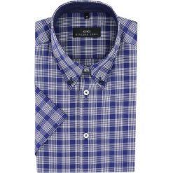 Koszula SERGIO slim 15-11-40-K. Niebieskie koszule męskie slim Giacomo Conti, l, z bawełny, z krótkim rękawem. Za 229,00 zł.