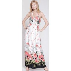 Sukienki hiszpanki: Biało-Czerwona Sukienka Powerful